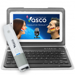 """Vasco Translator Premium 7"""" tangentbord med skanner"""